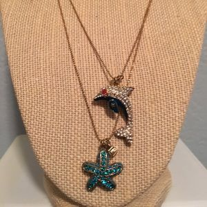 Betsey Johnson Starfish Dolphin Necklace